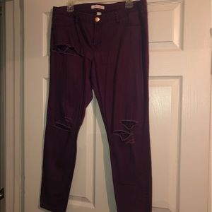 Size 14 purple ripped jeans
